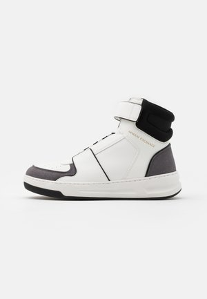 High-top trainers - white/grey