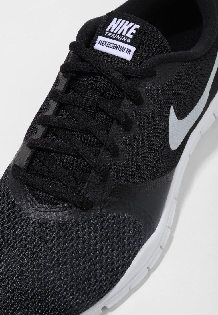 mezcla Guiño pandilla  Nike Performance WMNS NIKE FLEX ESSENTIAL TR - Sports shoes -  black/anthracite/white/black - Zalando.co.uk