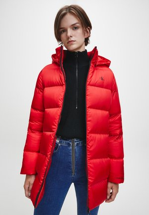 Down coat - red hot