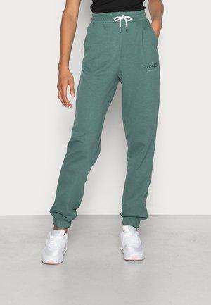 ONLBELLA LIFE HIGHWAISTED PANT - Tracksuit bottoms - mallard green