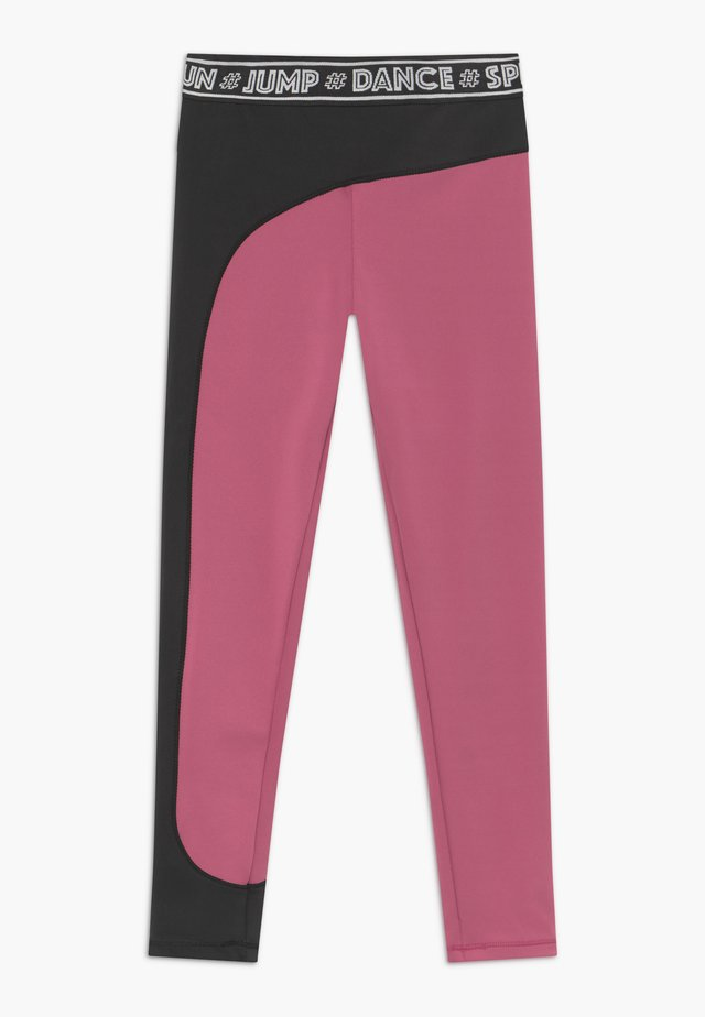 OLYMPIA - Leggings - pink/black