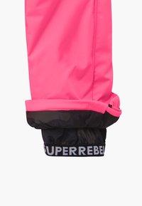 SuperRebel - SUSTAINABLE UNISEX - Zimní kalhoty - fluo pink - 3
