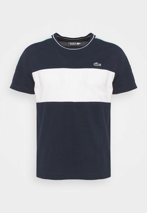 TOUR - T-shirts print - bleu marine/blanc/vert /blanc