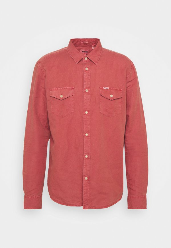 Wrangler FLAP - Koszula - barn red/czerwony Odzież Męska DBYW