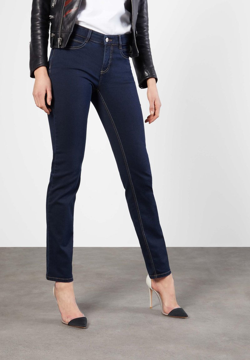 MAC Jeans - ANGELA  - Slim fit jeans - dark-blue denim