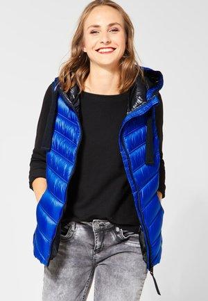 MIT KAPUZE - Waistcoat - blue