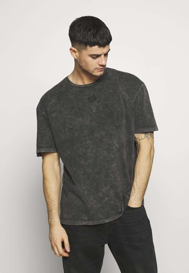 WAVE TEE - Print T-shirt - washed black