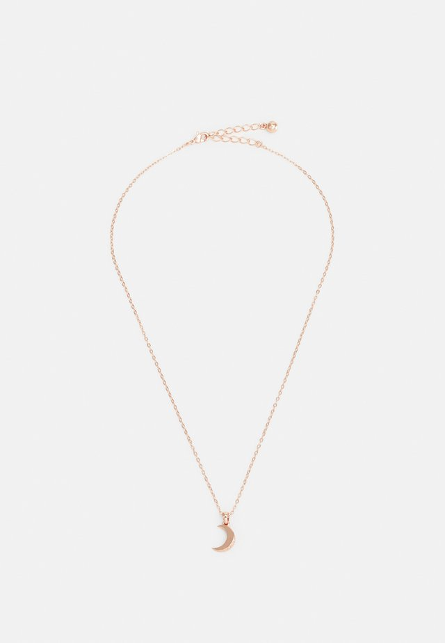 MARAI CRESCENT MOON PENDANT - Necklace - rose gold-coloured/crystal