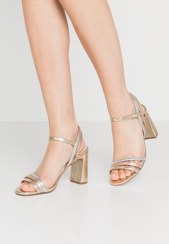 High heeled sandals - metal