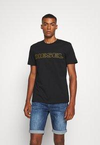 Diesel - JAKE - T-shirt con stampa - black/yellow - 0