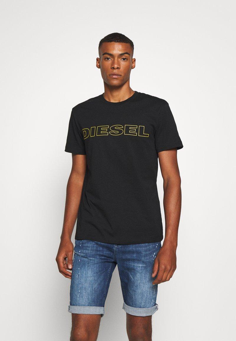 Diesel - JAKE - T-shirt con stampa - black/yellow