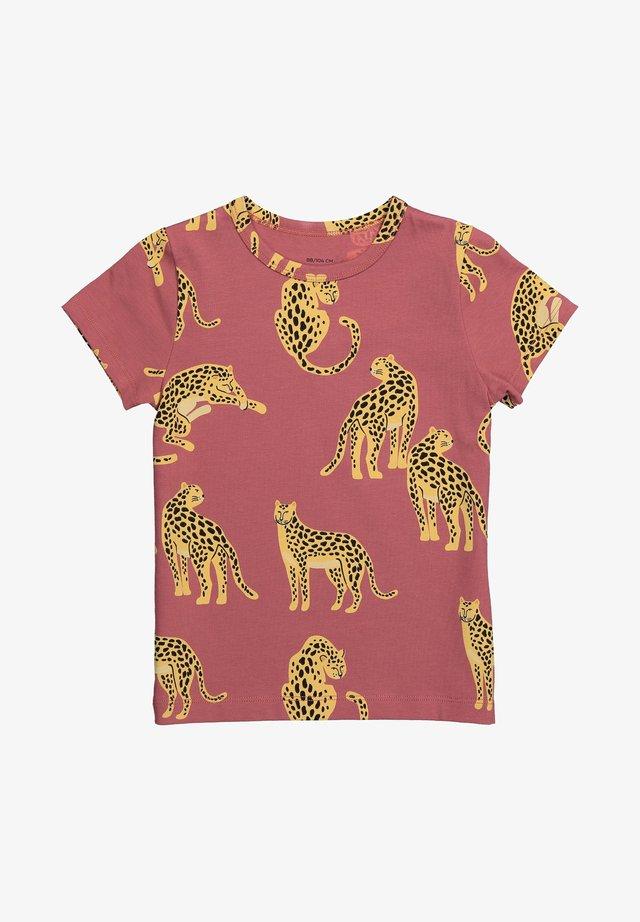 JUNO SS SNOW LEOPARD - T-shirt print - maroon