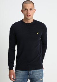 Lyle & Scott - Crew Neck Jumper - Stickad tröja - dark navy - 0
