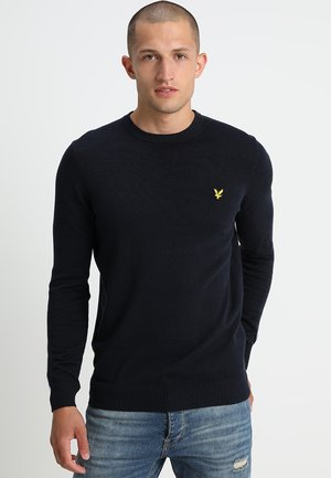 Crew Neck Jumper - Strikkegenser - dark navy