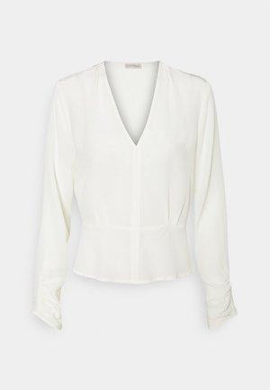 ANSELLIA - Top sdlouhým rukávem - soft white