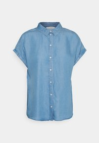 TOM TAILOR DENIM - LIGHT DENIM SHORTSLEEVE - Print T-shirt - used light stone blue denim - 4