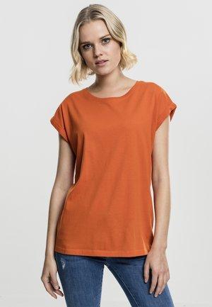 EXTENDED SHOULDER TEE - Basic T-shirt - rustorange