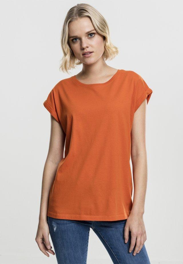 LADIES EXTENDED SHOULDER - T-shirt basique - rustorange