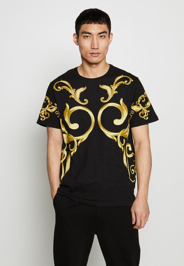 STREET TAPESTRY CREW - T-shirt z nadrukiem - black