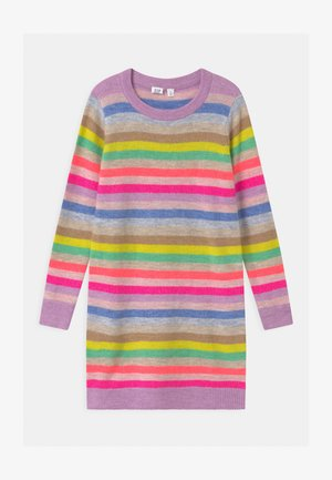 GIRL HAPPY STRIPE  - Gebreide jurk - multi-coloured