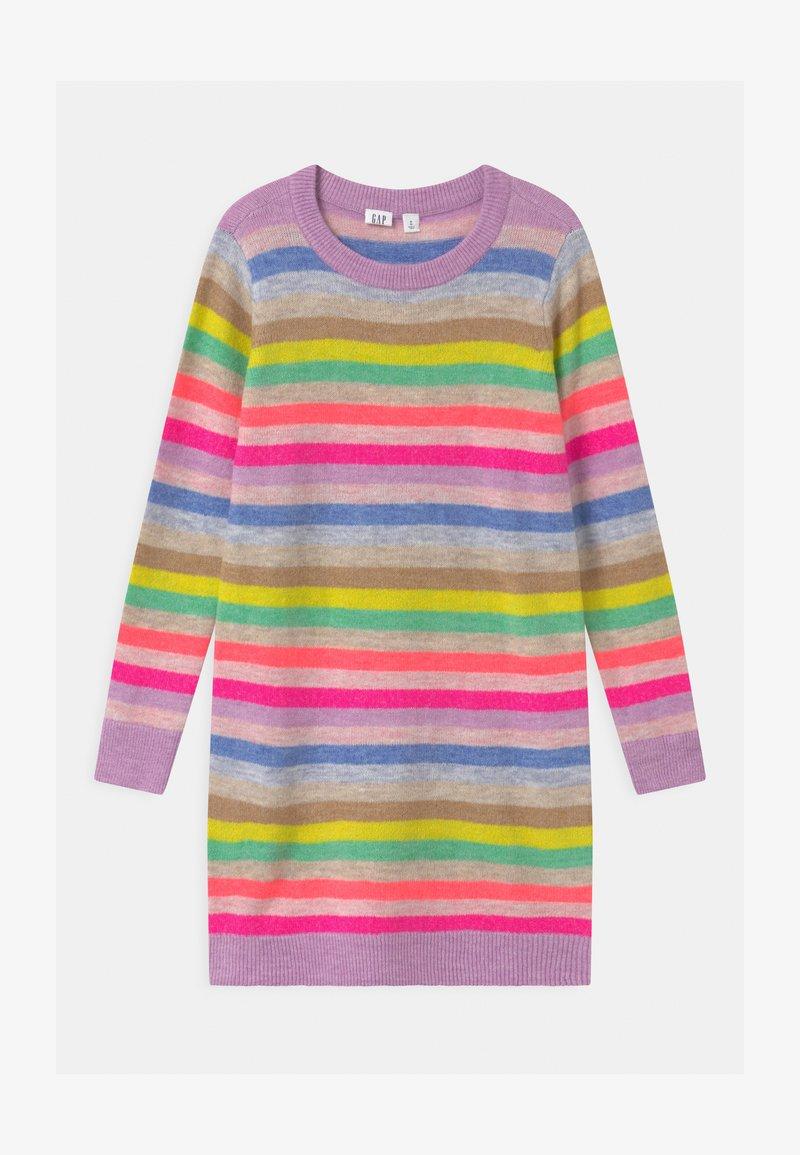 GAP - GIRL HAPPY STRIPE  - Jumper dress - multi-coloured
