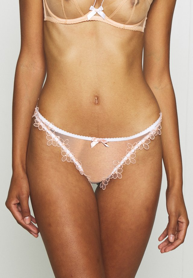 MAYBELLE THONG - Thong - white/peach