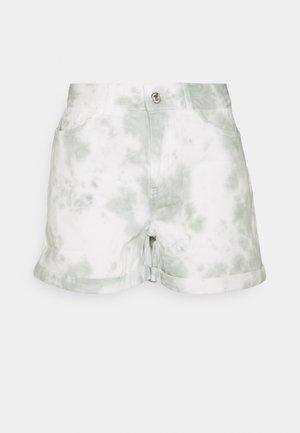 NMSMILEY TIE DYE  - Denim shorts - slate gray