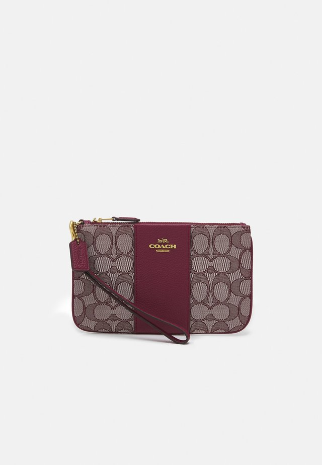 SIGNATURE SMALL WRISTLET - Portemonnee - burgundy/cherry