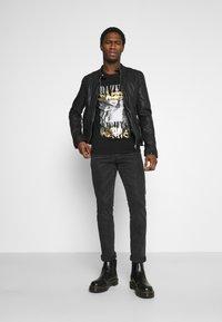 Goosecraft - GC ROSTOCK BIKER - Leather jacket - black - 1