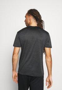 Endurance - BATANGAS  MELANGE TEE - Basic T-shirt - black - 2