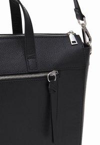 Zign - LEATHER - Laptop bag - black - 3