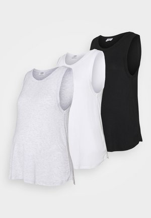 EVERYDAY GIRLFRIEND TANK 3 PACK - Top - black/white/silver marle