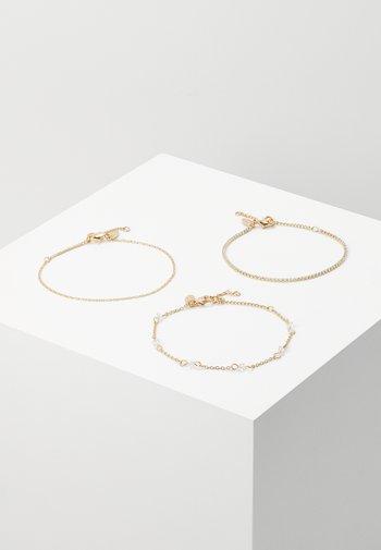 3 PACK - Bracelet - gold-coloured