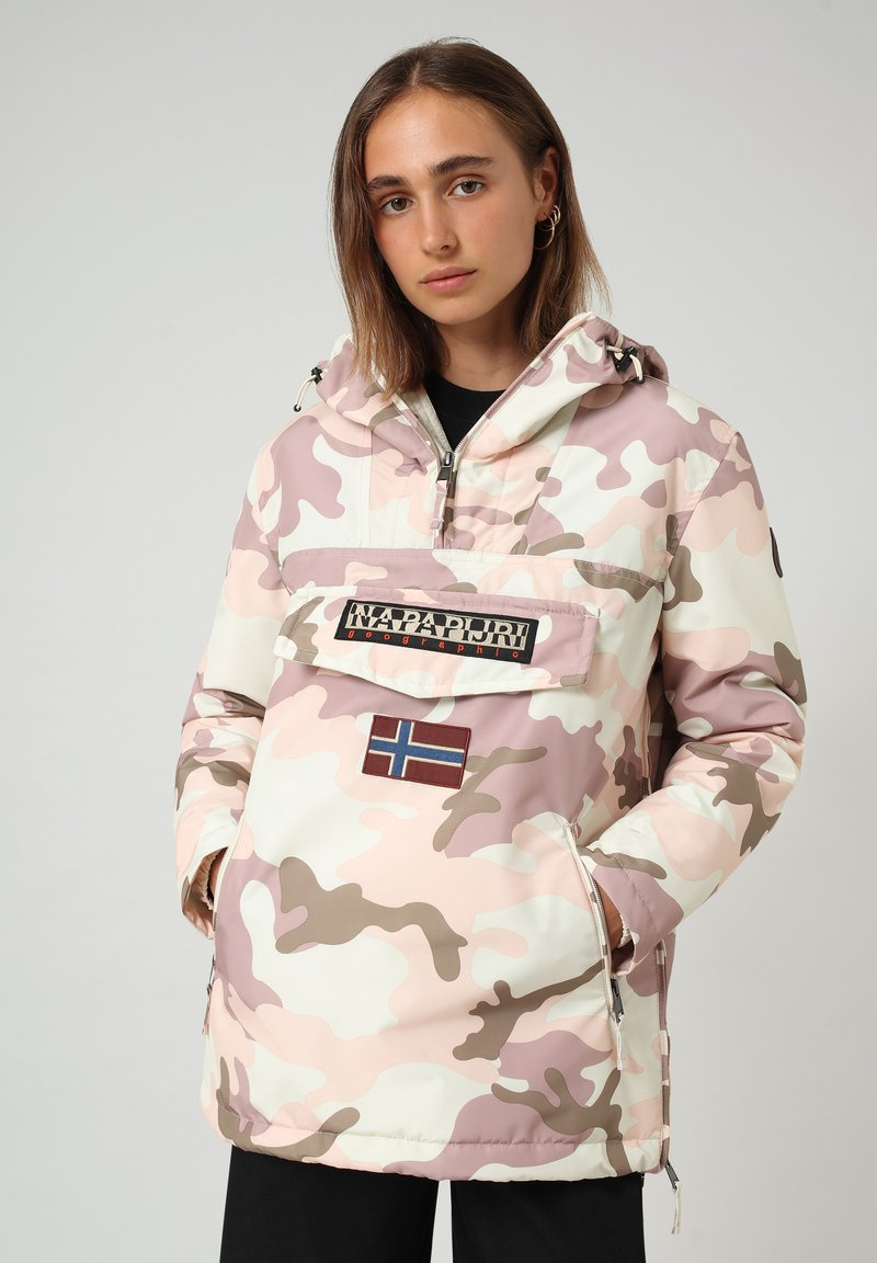 Napapijri - RAINFOREST PRINT CAMO - Winter jacket - camou pink