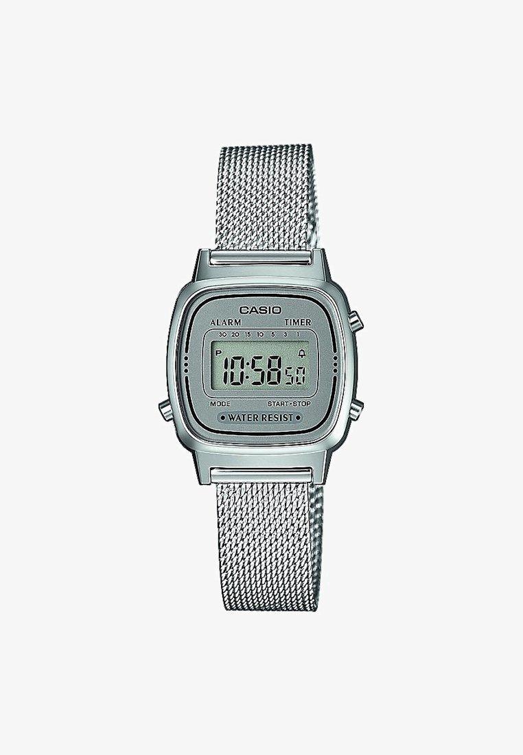 Casio - Digitalklokke - silver