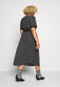 Fashion Union Plus - TRIM WRAP DRESS - Day dress - black/white - 2
