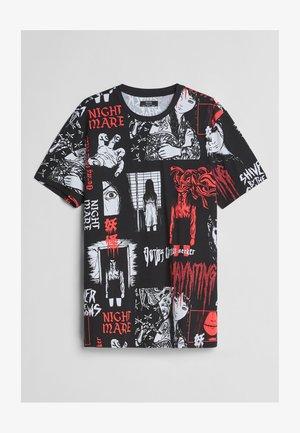 MIT TERROR-PRINT  - Print T-shirt - black