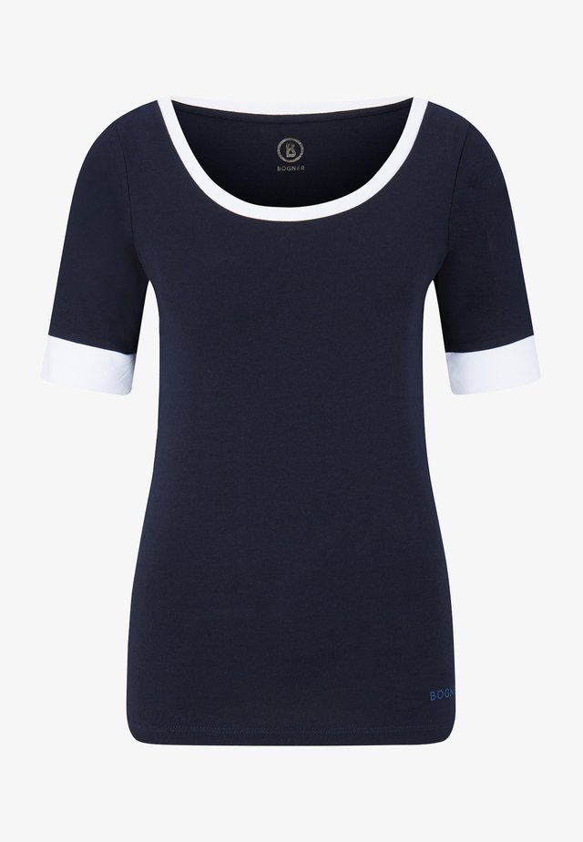 JACKIE - Jednoduché triko - navy-blau