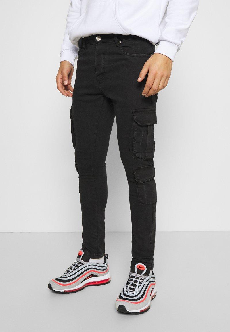 Brave Soul - HAMBURG - Jeans Skinny Fit - charcoal wash