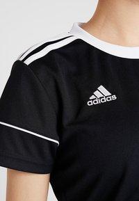 adidas Performance - CLIMALITE PRIMEGREEN JERSEY SHORT SLEEVE - T-shirt med print - black/white - 5