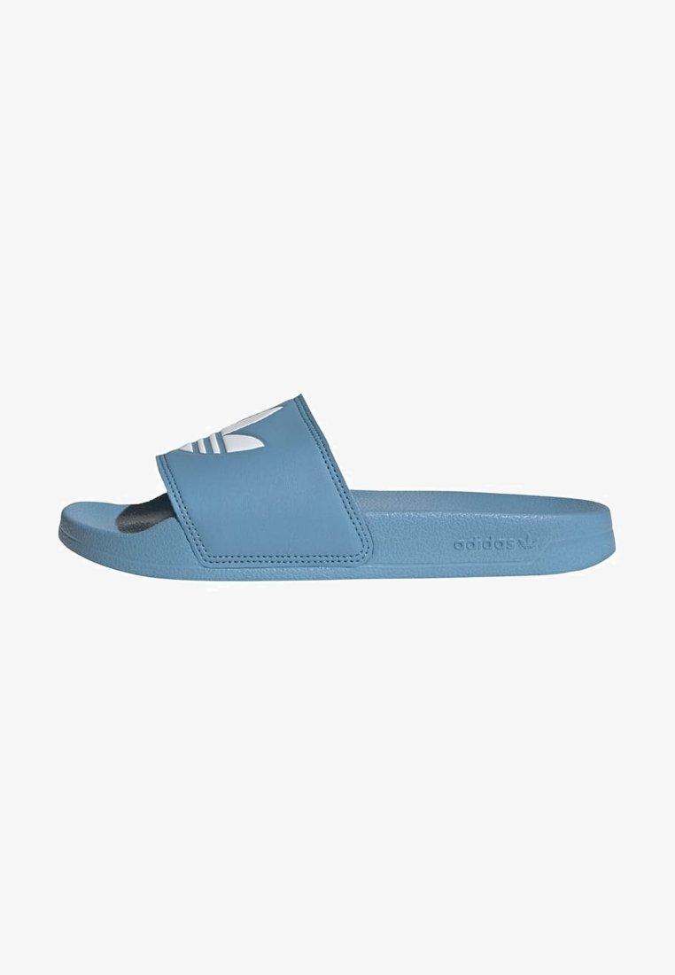 adidas Originals - ADILETTE LITE - Muiltjes - hazy blue/ftwr white/ftwr white