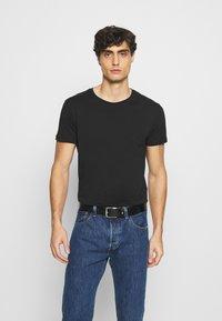 LTB - 3 Pack - Basic T-shirt - black/ olive/ grey melange - 2