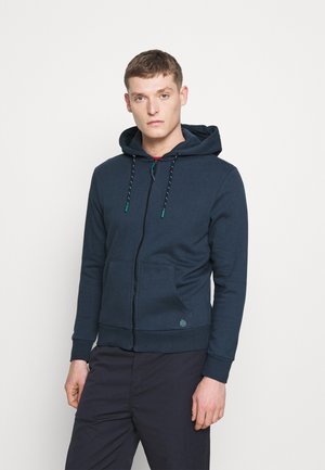 BASICA ABIERTA - Zip-up hoodie - medium blue