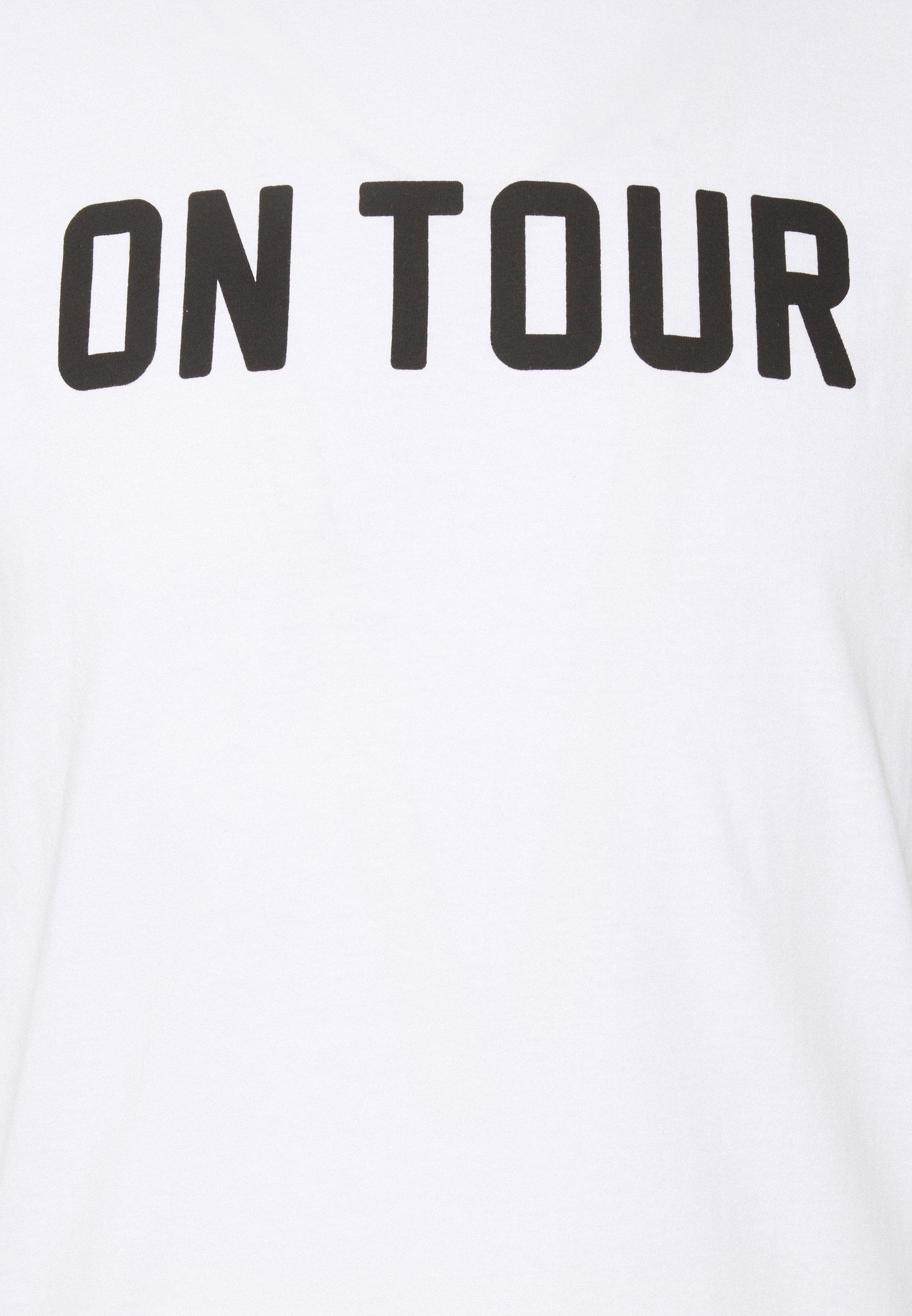 Brave Soul Print T-shirt - white/black AKvqi