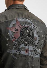 Freaky Nation - ROCKATANSKY - Leather jacket - oliv - 6