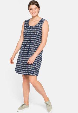 Jersey dress - marine bedruckt