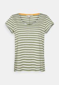 Esprit - SLUB - Print T-shirt - light khaki - 0