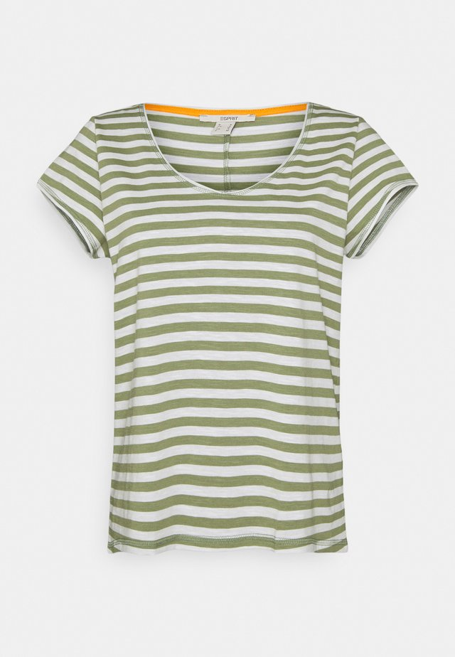 SLUB - Print T-shirt - light khaki