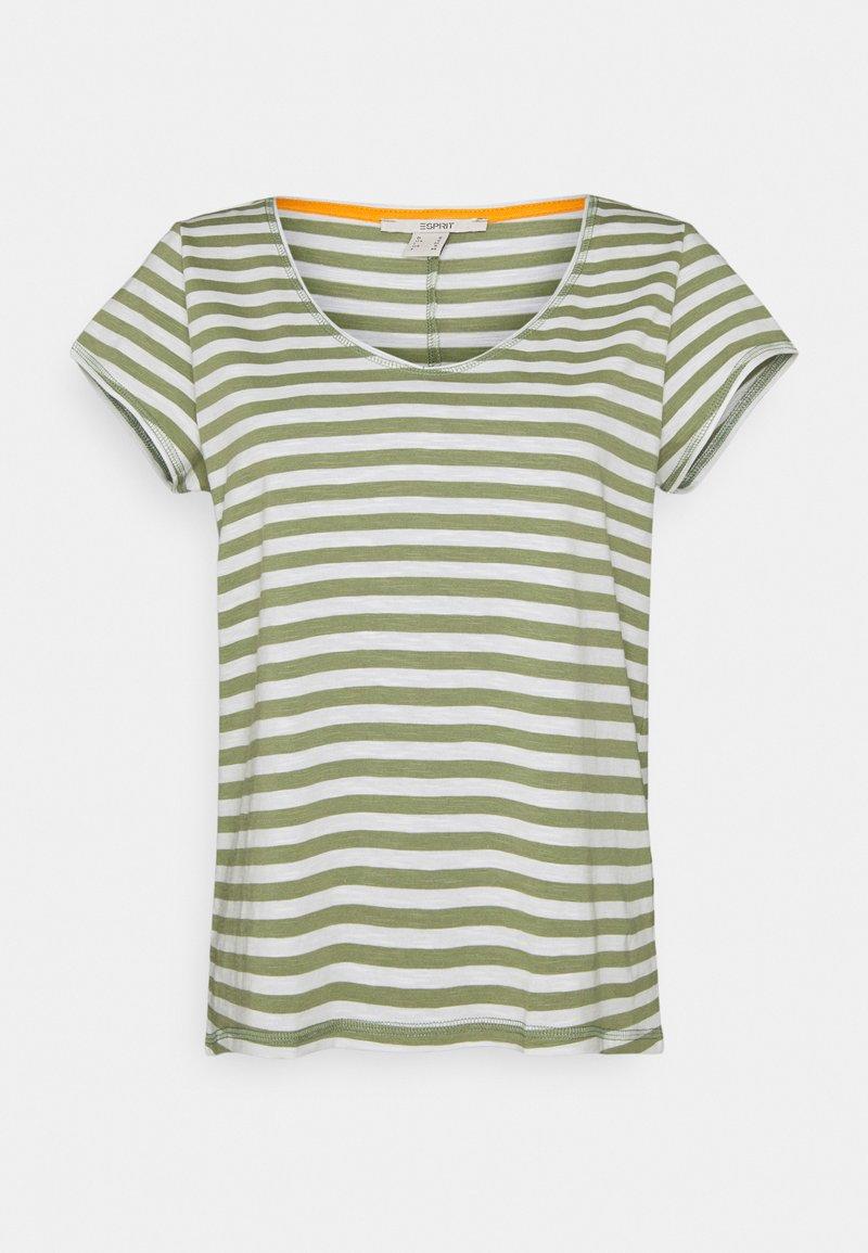 Esprit - SLUB - Print T-shirt - light khaki