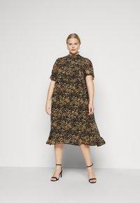 Selected Femme Curve - SLFLINA DRESS CURVE - Vapaa-ajan mekko - black - 0
